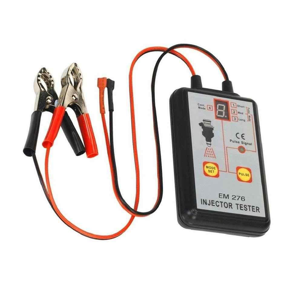 Tüm güneş EM276 profesyonel enjektör test cihazı yakıt enjektörü 4 Pluse modları test cihazı güçlü yakıt sistemi tarama aracı % 100% garanti