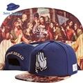 C & S Color Oración Cristiana Jesús Última Cena Praying Hands Strapback Béisbol Deportes Sombrero Hip Hop Hombres Mujeres Romper Tapa de pan