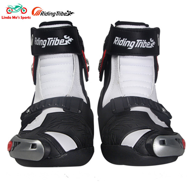 RIDING TRIBE hitBreak Resistant Motorcycle Boots men Moto shoes Racing boots Motorbike off-road ankle protection Motocross boots
