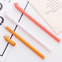 3 PCS 0.38mm Cute Kawaii Plastic Gel Pens Lovely Cartoon Rabbit Pen For Kids Writing Gift Korean Stationery Free Shipping Gel Pens