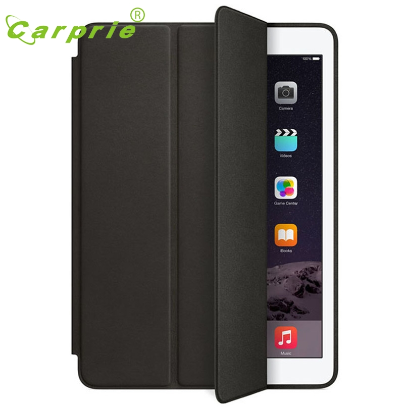 CARPRIE Case For iPad Air 2 Slim Genuine Leather Smart Stand Case Cover For iPad Air 2 Screen Protector+ Film Pen Set Mar24