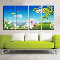 Free Shipping Original Designs Giclee CanvasPrint Home Wall Art Decoration Picture Of Spring Landscape Green Tree