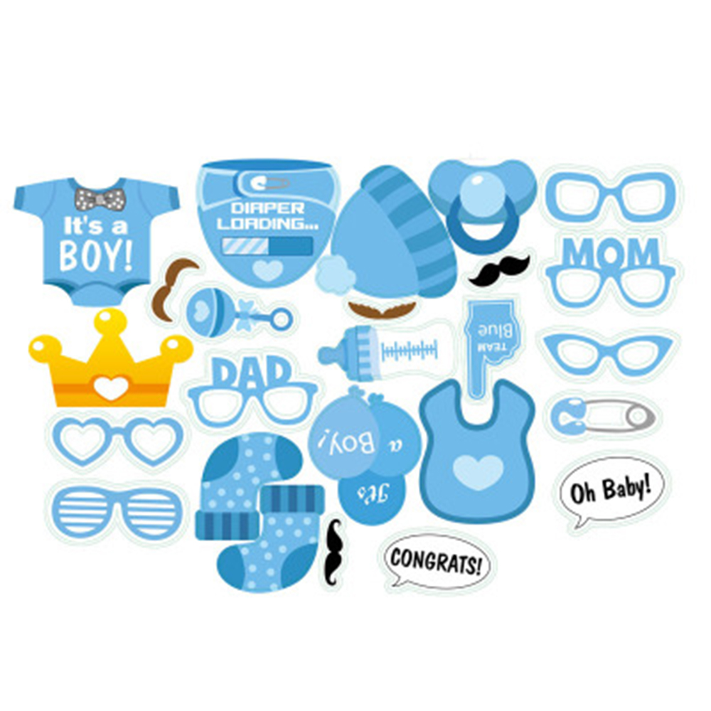 30pcsset Baby Shower Gender Reveal Party Boy Or Girl Photo Booth