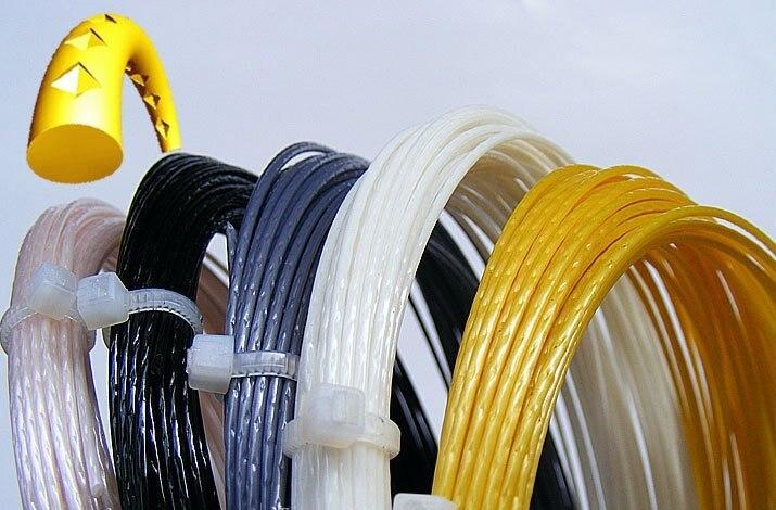 Free Shipping(10pcs/lot,12m/pcs)LX ALU Power Rough Tennis String(Polyester Strings)