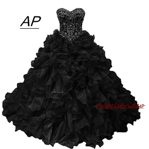 ANGELSBRIDEP Charming Quinceanera Dresses 2020 For 16 Years Crystal Beaded Organza Ball Gown Vestidos De Anos Formal Party Gown