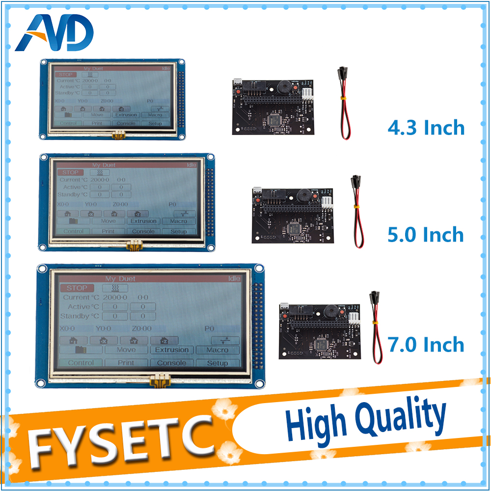 1PC 4 3 5 7 Colour Touch Screen PanelDue Controller For DuetWifi Advanced 32 Bit Electronics