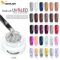 #61502 Newest venalisa nail art design 5ml 180 color uv/led gel nail design painting pigment glitter nail polish lacquer gel ink