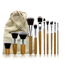 Antibacterial Bamboo Makeup Brushes Charcoal Fiber Powder Oblique Head Blush Foundation Brush Cosmetics Professional Makeup Sets single antibacterial bamboo charcoal fiber powder blush brush tool