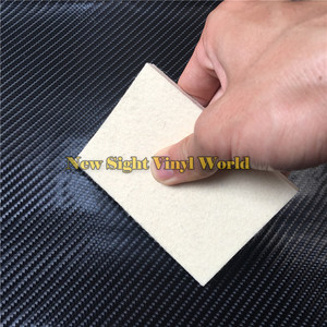 Image 1 - 100 pcs/Lot Custom LOGO Car Wrapping Vinyl Film Installation Tool Wool Squeegee