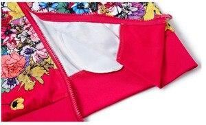 Image 4 - Più il Formato L 6XL Tuta A Due Pezzi Abiti Delle Donne Top A Manica Lunga e Pantaloni Lunghi di Modo di Autunno Stampa Floreale Delle Donne Set sportwear