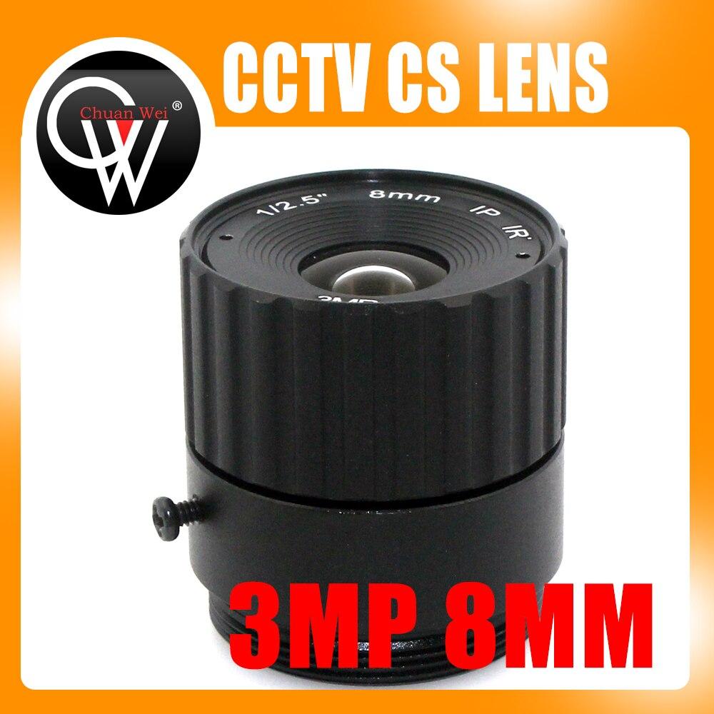 3Mega pixels 8mm CS lens IR Fixed CS Lens 1/3 CS F1.6 lens for CCTV Security Camera Free Shipping 8mm 12mm 16mm cctv ir cs metal lens for cctv video cameras support cs mount 1 3 format f1 2 fixed iris manual focus