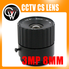 3Mega pixels 8mm CS lens IR Fixed CS Lens 1/3″ CS F1.6 lens for CCTV Security Camera Free Shipping