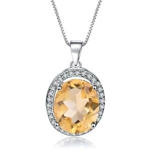 Image 5 - GEMS バレエ 925 スターリングシルバー誕生石ファインジュエリー 1.79Ct 天然シトリン宝石用原石のペンダントネックレス女性の結婚式