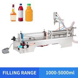 YTK 1000-5000 ml máquina de llenado neumático de jugo líquido de una sola cabeza máquina de llenado de agua Mineral precio