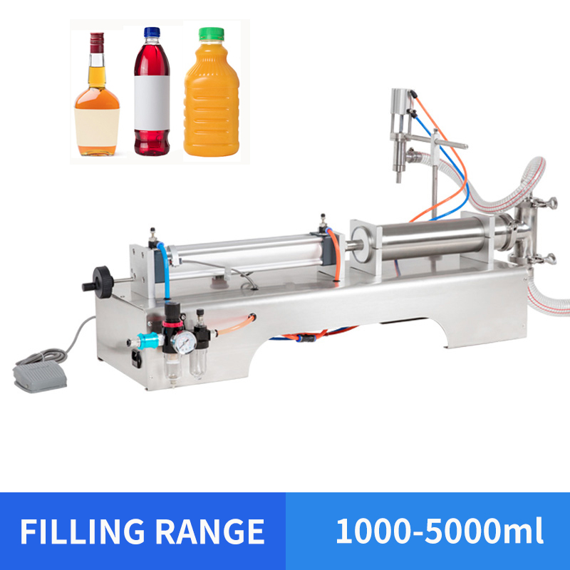 YTK 1000-5000ml Single Head Liquid Juice Pneumatic Filling Machine Mineral Water Filling Machine Price
