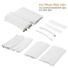 Термоусадочные трубки, защитные белые трубки для наушников/телефона/iPad, соотношение 3:1/4:1, 20 шт./компл.