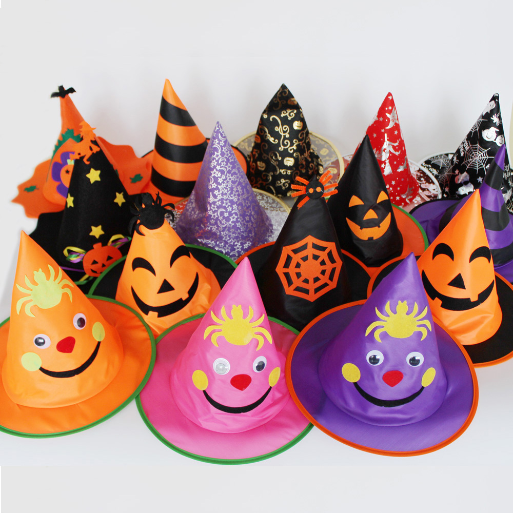 Halloween costume hat kids boys and girls witch wizard hat costume dress up cosplay accessory party