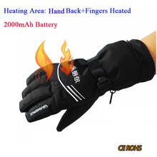 Finger and Hand Back Heated Battery Heating Gloves,Electric Rechargeable Heating Gloves,Winter Warm Ski Outdoor Sport Gloves