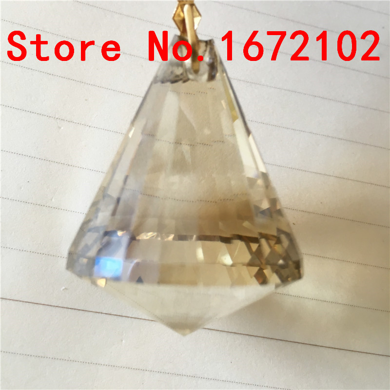 100pcs/Lot 30mm Cognac Prism Balls Fengshui Crystal Diamond Ball Crystal Chandelier Ball Pendant For Wedding&Home Decoration