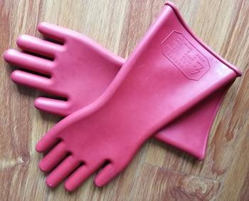 Guantes aislantes de trabajo en vivo de 12KV, adecuados para guantes aislados de 8000V, guantes de látex natural puro a prueba de fugas 2
