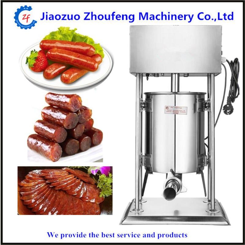 10L vertikalt korvstoppare i rostfritt stål köttkorv som gör maskin korvar fyllmedel