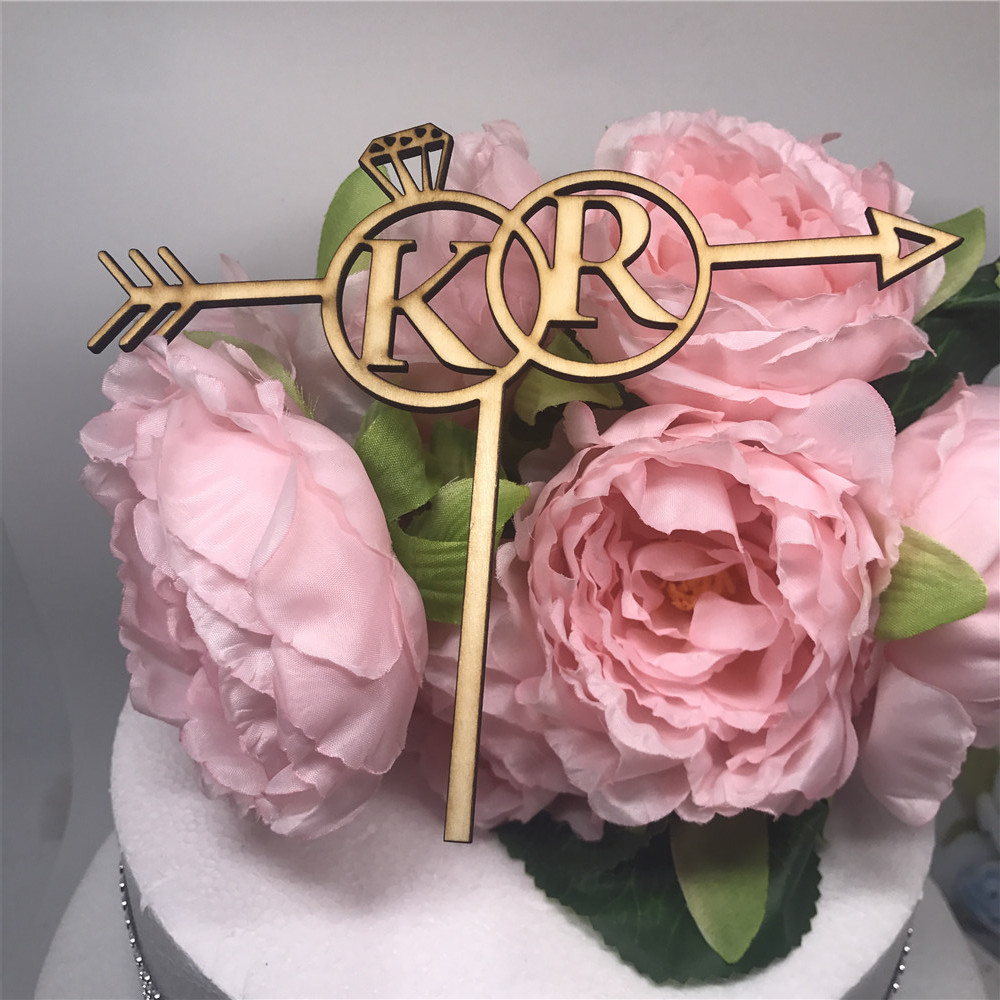 Free Shipping Custom Wedding Cake Topper Personalized Wooden Wedding ...