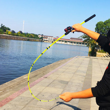 squid trout fishing rod ultralight spinning rod lure bait casting rod carp bass stick  2 segments  1.6m-2.7m boat rock pole super large lightsabre 2 mode signaling stick rod 2 d batteries