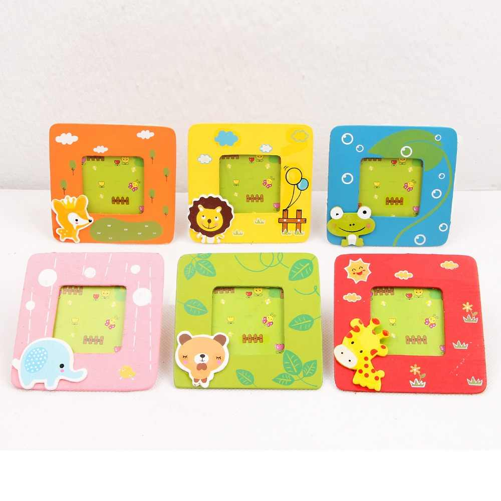 15 pc/lot Creative Student Prizes / special wooden children's gifts / strange small cartoon animal picture frame/photo frame