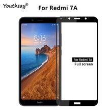1PCS For Xiaomi Redmi 7A Glass Screen Protector 2.5D Full Glue Coverage Film for
