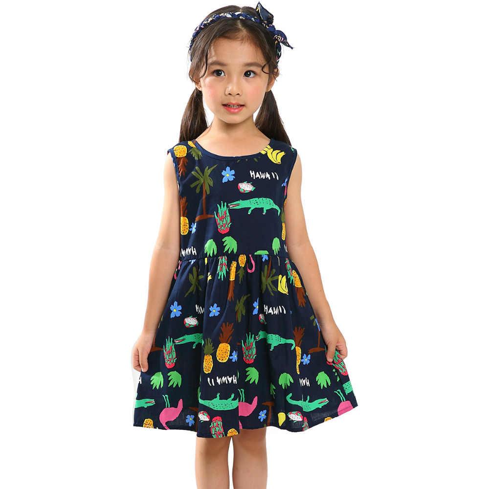 ドロップシップベビー女の子ドレス夏のノースリーブ背中ベリー子供パーティーのためのパーティードレス子供服
