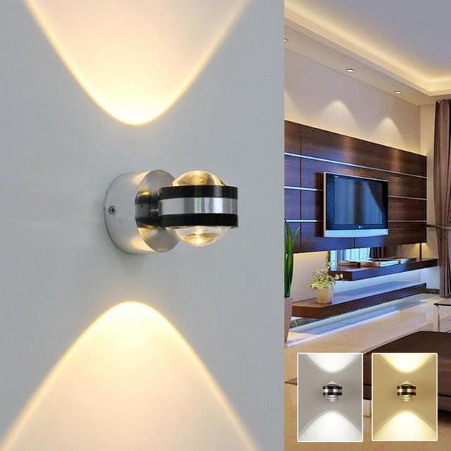huge discount 5dada 6e645 LED Up Down Wall Lamp Modern Indoor Light Living Bedside Bedroom Room Aisle  Wall Light Rotate Hotel Adjustable Decoration Z35-in LED Indoor Wall Lamps  ...