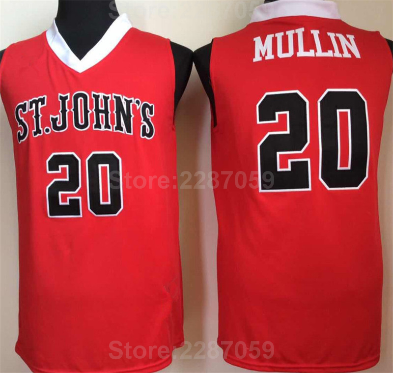 Detail Feedback Questions about Ediwallen Men Red White 20 Chris Mullin College  Basketball Jerseys St John s University Jersey University Breathable ... d699f30b6
