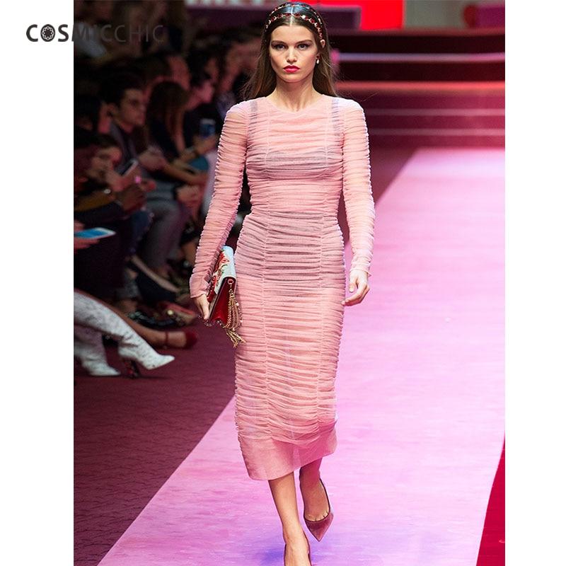 06bfba6035674 Shoptagr | Cosmicchic Bodycon Mesh Dress Long Sleeve Wrap Dress ...