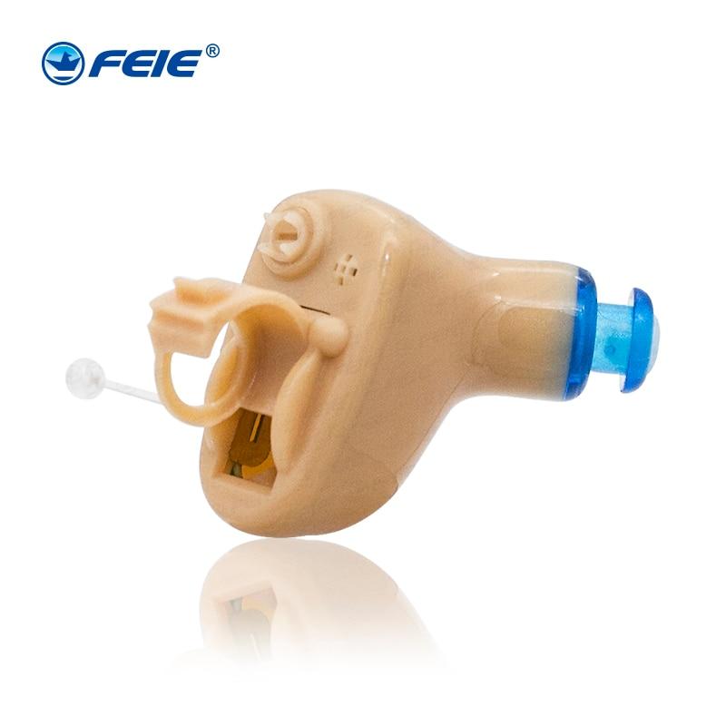 Casques de surdité Mini appareils auditifs invisibles bon marché pour les personnes âgées S-9A de soins auditifs à tonalité Ajustable