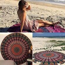 Nueva indio mandala tapiz tapiz gasa de boho hippie ronda impreso playa tiro toalla yoga mat manta decoración del hogar