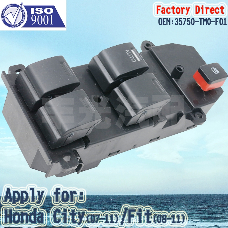 Factory Direct 35750-TM0-F01 Power Window Master Control Switch Apply For Honda City(07-11) Fit(08-11)LHD