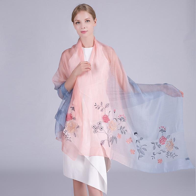 Жібек жүнінен жасалған шарф 2019 сәнді - Киімге арналған аксессуарлар - фото 6