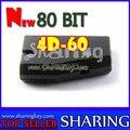Frete grátis (10 pçs/lote) New 80 Bit 4D-60 Chip De Transponder Para toyota ford nissan chave do carro melhor oferta preço