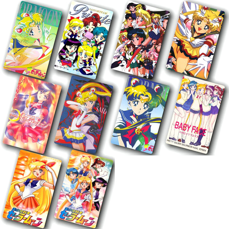 100pcs/lot Cartoon Sticker Toys Anime Sailor Moon Card Sticker DIY Decoration Bus ID Card Stickers Classic Toys