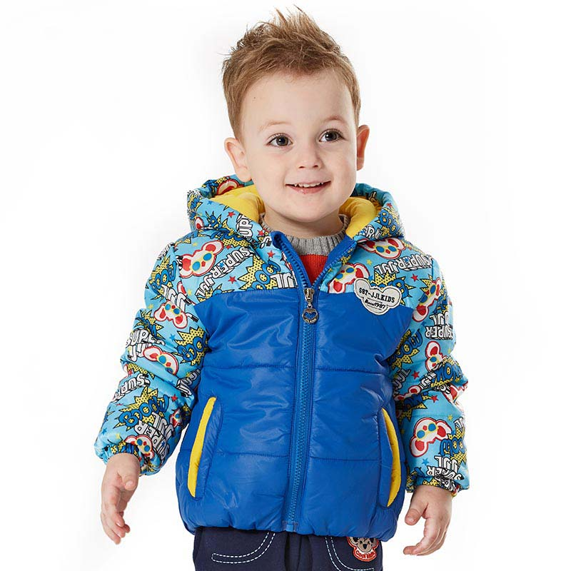 0-4T winter baby coat playful cartoon printing boys outerwear baby cotton jacket brand coat hooded newborn warm clothes 2015 new