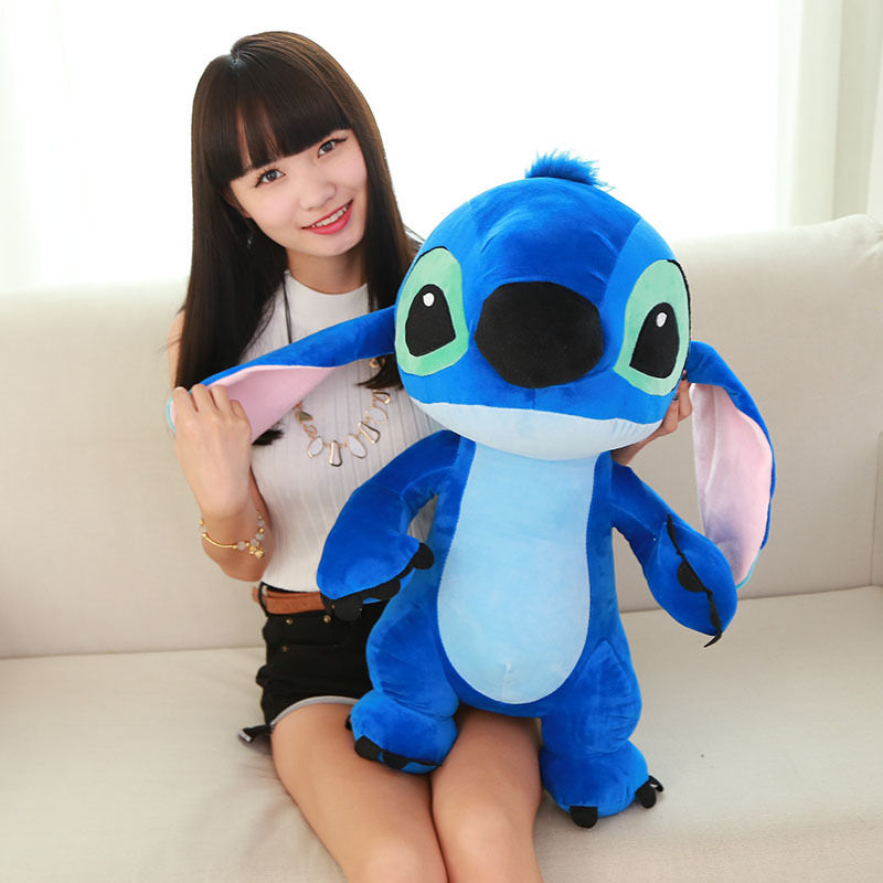 60cm 24 Inch Giant Large Big Lilo Stitch Stuffed Animals Plush Baby Soft Toys Kids Gifts 42 50cm cute lilo and stitch plush pillow folded transform cushions stuffed animals soft toys for children kids birthday present