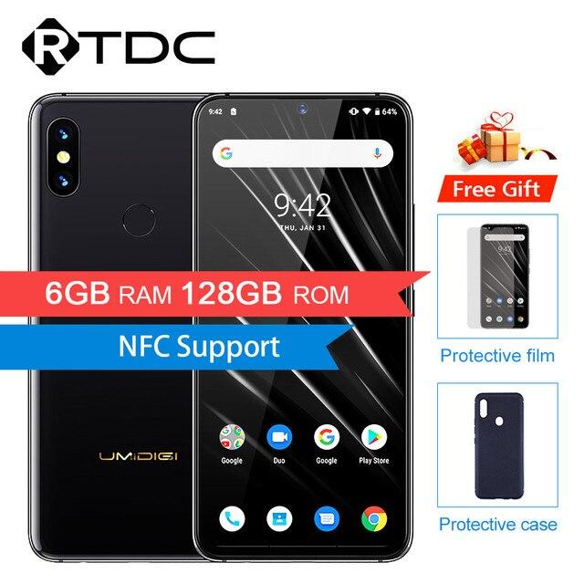 "UMIDIGI S3 PRO Android 9.0 6GB RAM 128GB ROM Helio P70 Android 9.0 6.3"" FHD+ NFC Back Cameras 20MP Selfie Camera 5150mAh Smartp"
