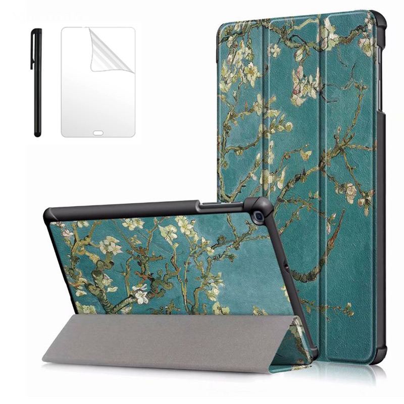 Magent Slim PU <font><b>Case</b></font> for Samsung Galaxy Tab A 2019 <font><b>SM</b></font>-T515 <font><b>T510</b></font> 2019 Funda Tablet Stand cover for Samsung Tab A 10.1 <font><b>T510</b></font> <font><b>case</b></font> image