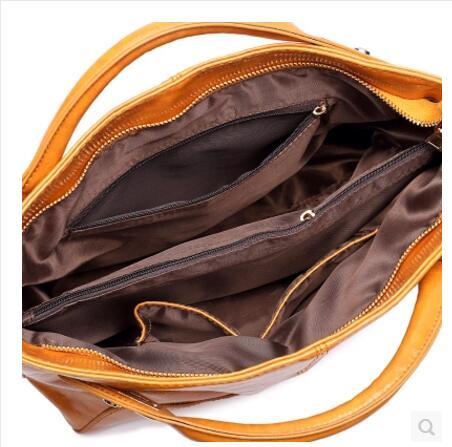 Bolso de hombro de las mujeres 100% bolso de cuero de alta calidad MS aceite de