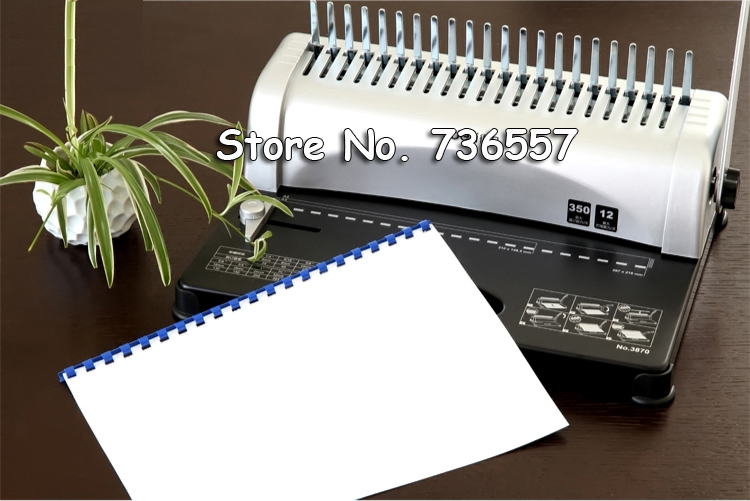 Comb binding machine Book Binder Manual Comb Hole Punch Wire Binding Machine Office Supply Tool цена