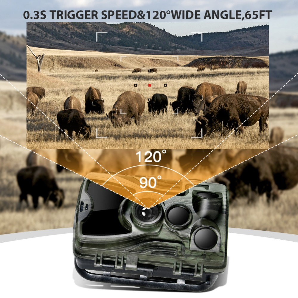 Image 3 - Suntekcam HC 801A Hunting Camera With 5000Mah Lithium Battery 16MP 64GB Trail Camera IP65 Photo Traps 0.3s 850nm Wild Camera-in Hunting Cameras from Sports & Entertainment
