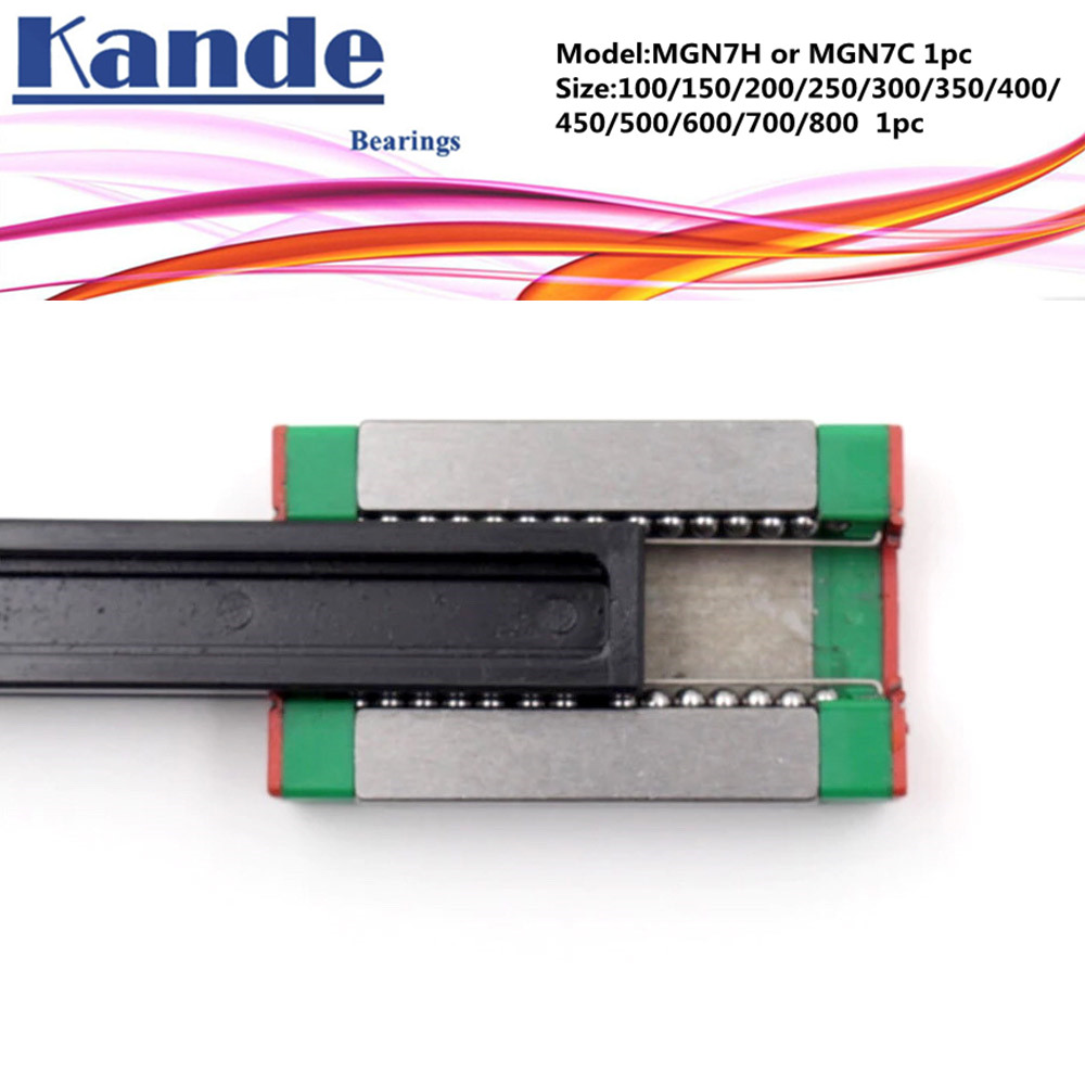 MGN7 CNC 7mm miniature linear rail guide MGN7C L 700mm 800 mm MGN7H linear block carriage or MGN7H narrow carriage все цены