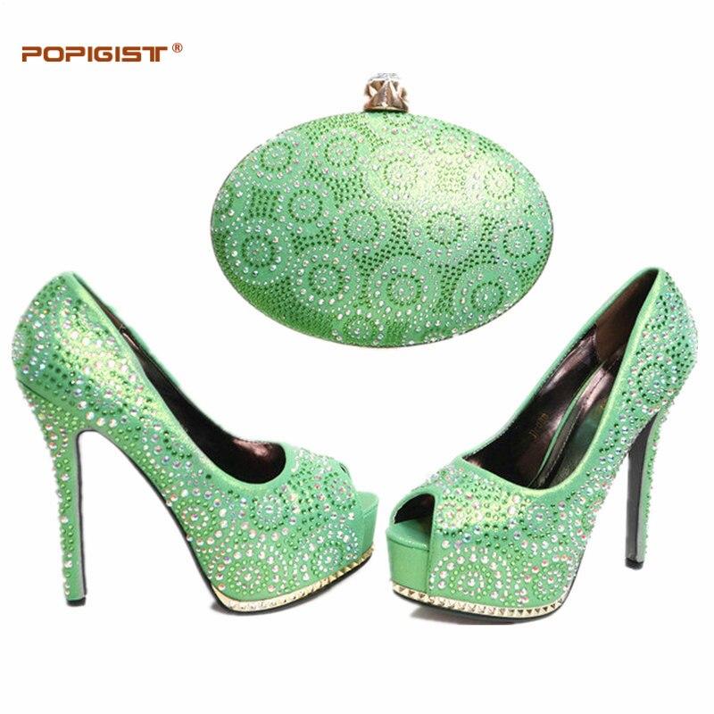 Llegada Zapato La África Bolsas pink gold Mujeres Conjunto Royal Señoras Italiano Emparejar Zapatos 2017 green Sets Verde fuchsia Para El Bolso Color purple Blue De Y Las Partido EwqtOg8