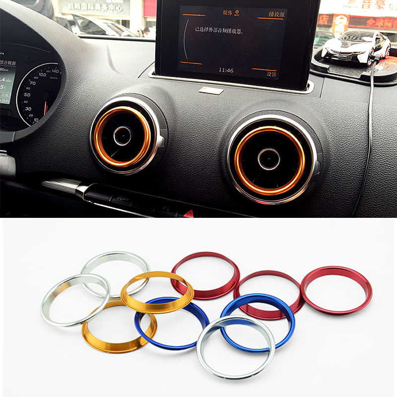 2015 New Car Styling 4PCS/SET Air Conditioning Heat Control Switch knob AC Knob Case For Audi A3 Sedan High Quality HXY0157