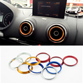 2015 New Car Styling 4PCS/SET Air Conditioning Heat Control Switch knob AC Knob Case For Audi A3 2014-2017 Q2 2017